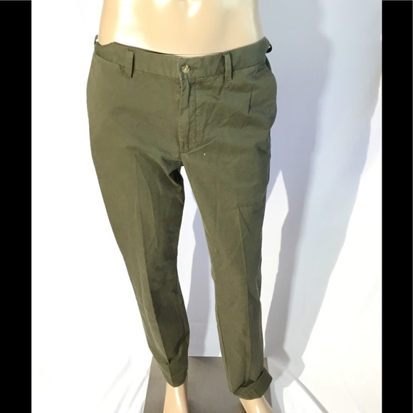 Polo Ralph Lauren Stretch Classic Fit Flat Front Twill Chino Khaki Pants NWT $98